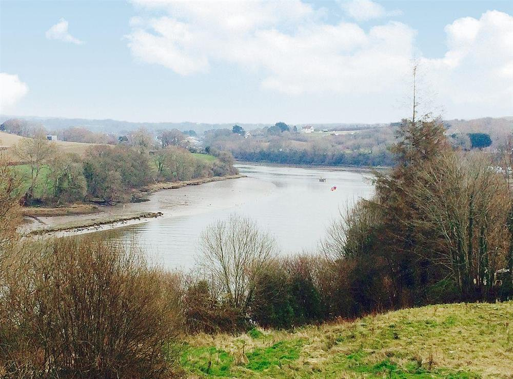 The view from the cottage over the River Teifi at Green Meadow in St Dogmaels, near Cardigan, Dyfed