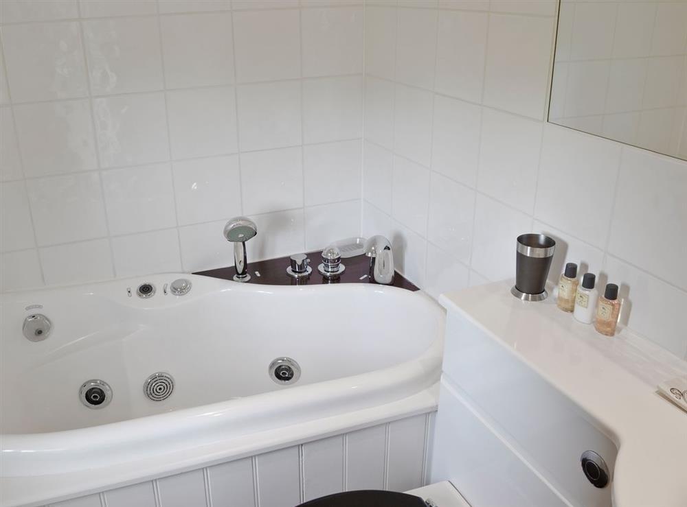 Bathroom at Green Oak Cottage in Sandley, near Gillingham, Dorset