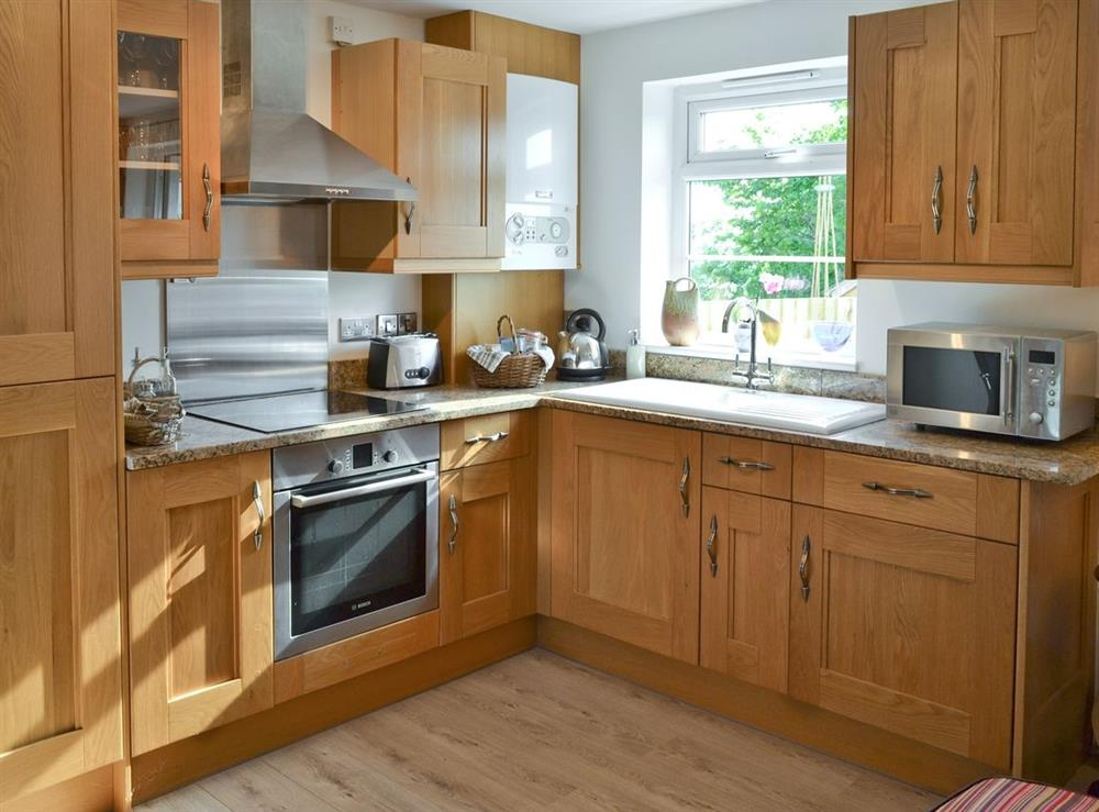 Kitchen at Green Oak Cottage in Sandley, near Gillingham, Dorset