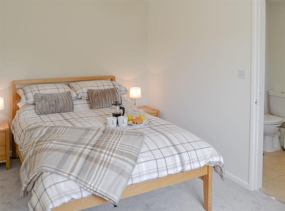 Comfortable double bedroom at Greenhaven Lodge in Rackheath, near Wroxham, Norfolk