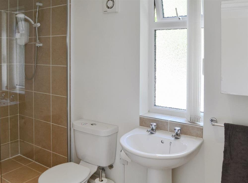 En-suite wet room at Greenhaven Lodge in Rackheath, near Wroxham, Norfolk