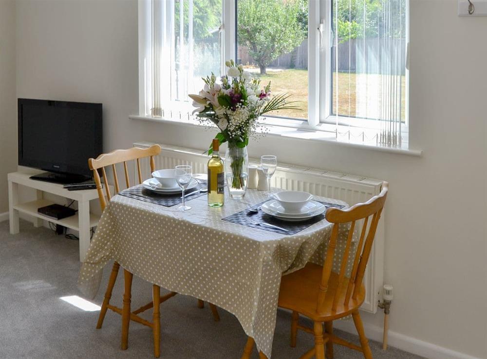 Quaint dining area at Greenhaven Lodge in Rackheath, near Wroxham, Norfolk