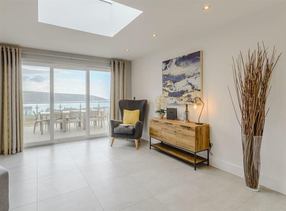 Sea views throughout the property at Meusydd,