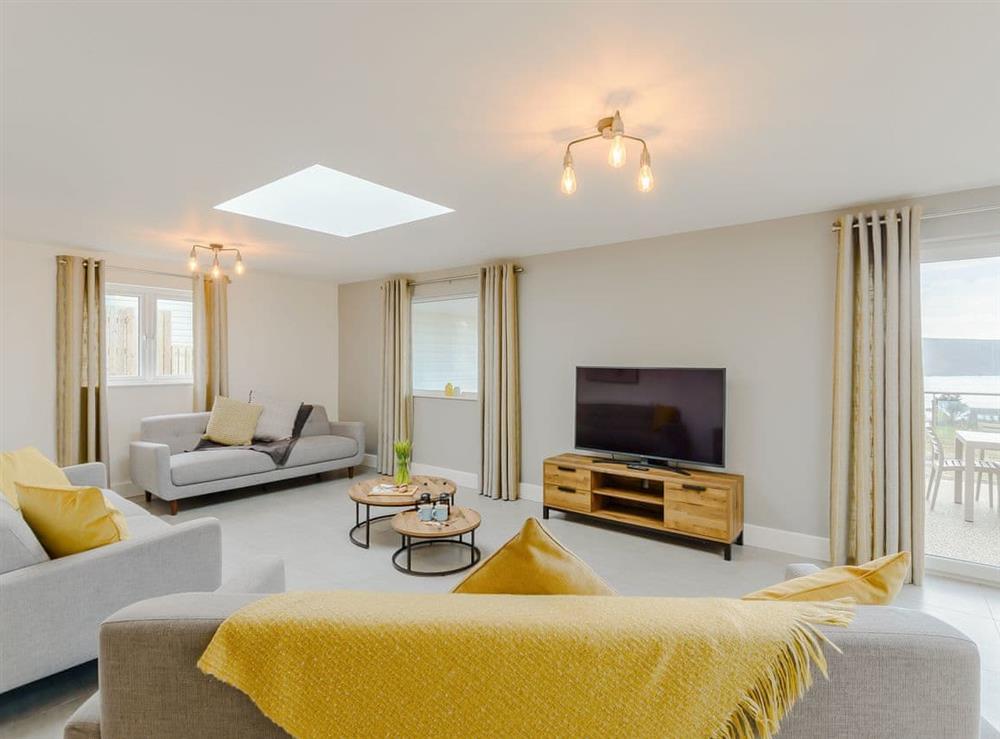 Spacious living area at Meusydd,