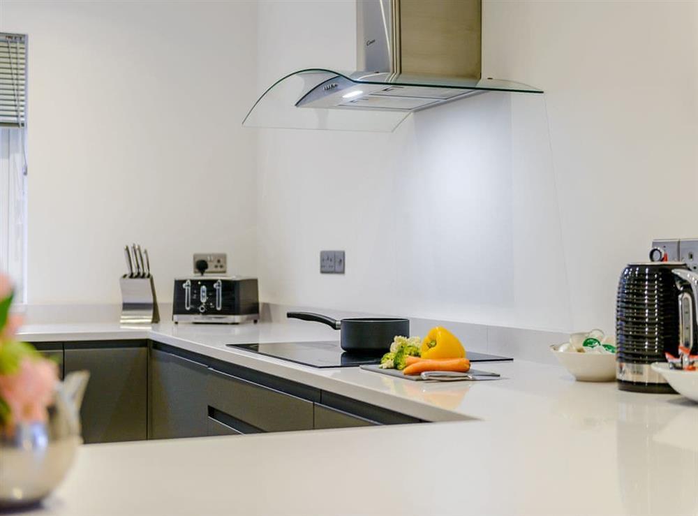 Stylish kitchen at Meusydd,