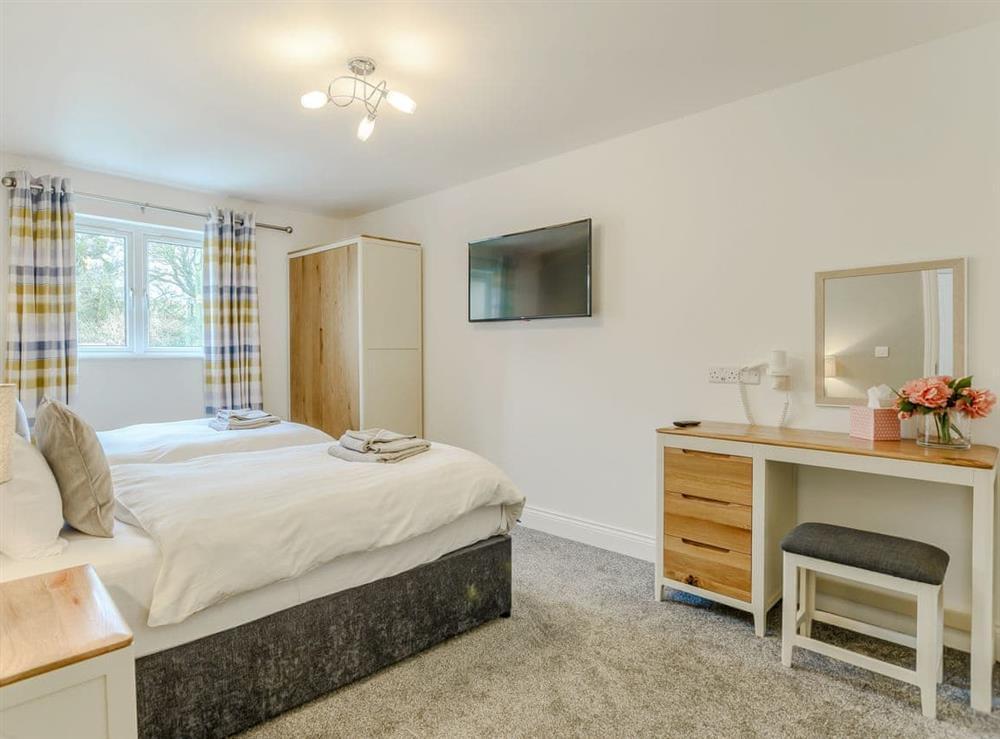 Twin bedroom at Meusydd,
