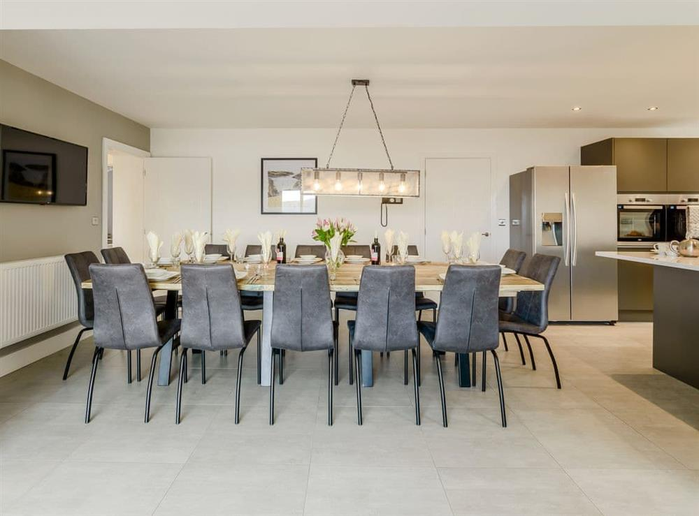 Well presented dining area at Meusydd,