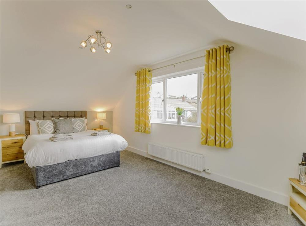 Spacious double bedroom at Ty Canol,