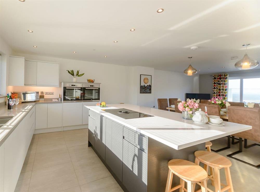 Stylish kitchen area at Ty Canol,