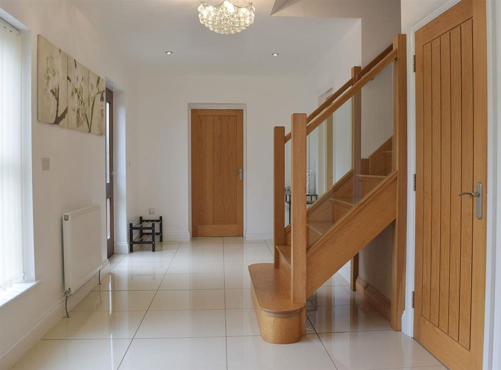 Hallway & stairs at Hafan Dawel in Stepaside, near Saundersfoot, Pembrokeshire, Dyfed