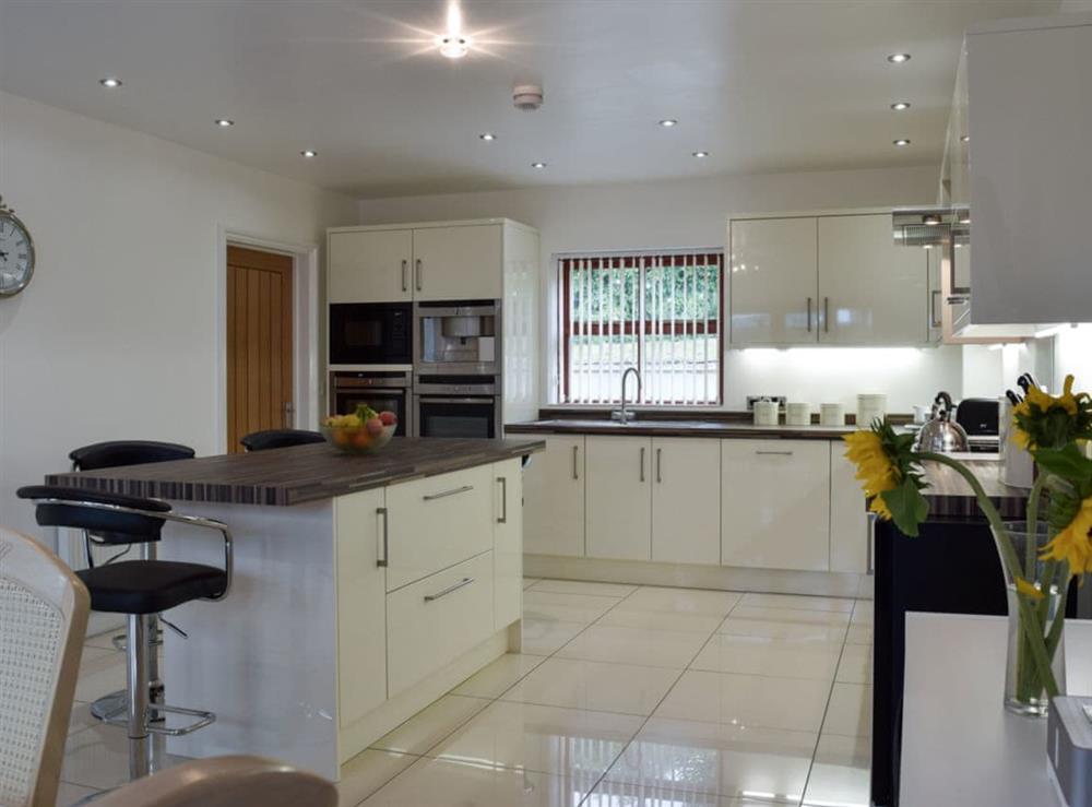 Kitchen at Hafan Dawel in Stepaside, near Saundersfoot, Pembrokeshire, Dyfed