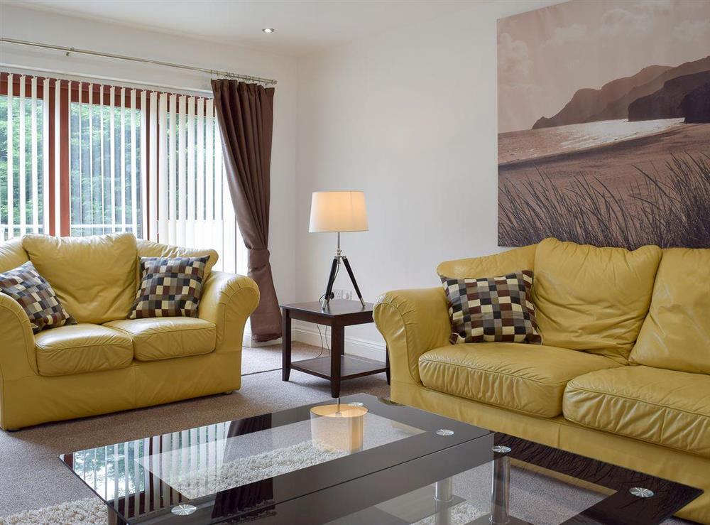Living room at Hafan Dawel in Stepaside, near Saundersfoot, Pembrokeshire, Dyfed