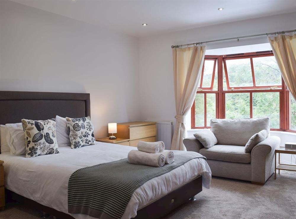 Master bedroom at Hafan Dawel in Stepaside, near Saundersfoot, Pembrokeshire, Dyfed