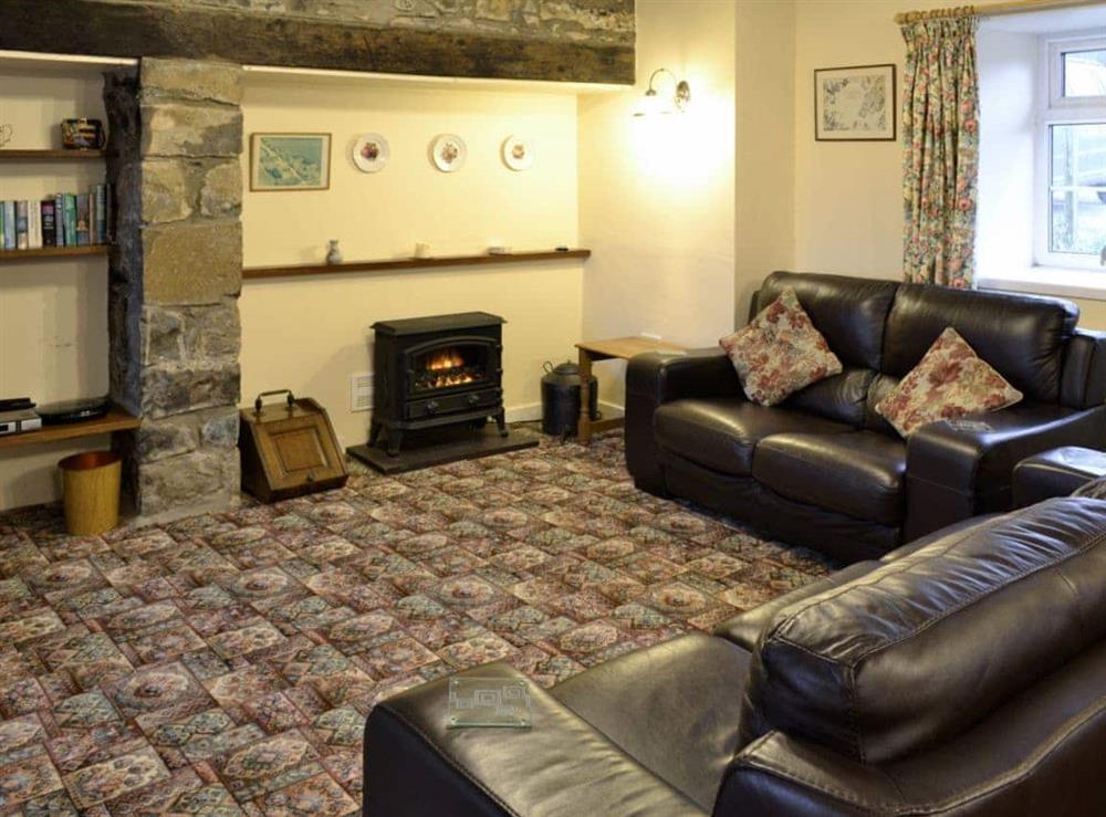 Living room at Hafod in Llangian, near Abersoch, Gwynedd