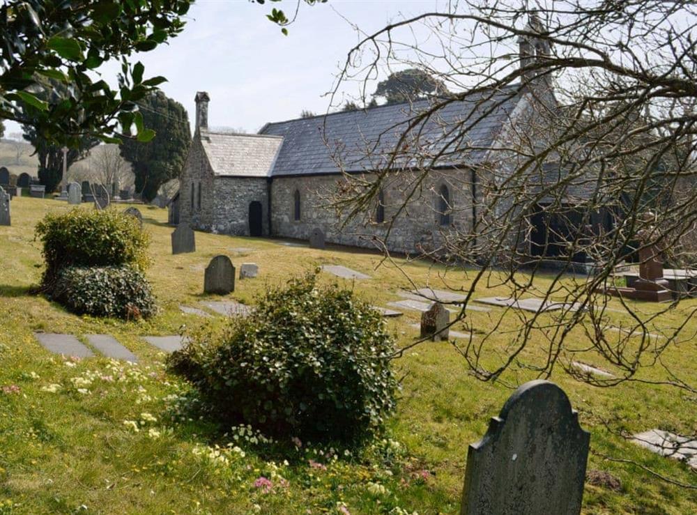 Llangian church at Hafod in Llangian, near Abersoch, Gwynedd