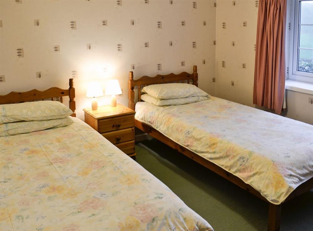 Twin bedroom at Hafod in Llangian, near Abersoch, Gwynedd