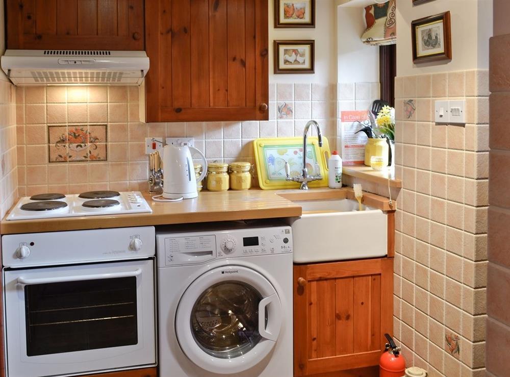 Kitchen at Hafoty Boeth Cottage in Bryn Saith Marchog, near Ruthin, Clwyd