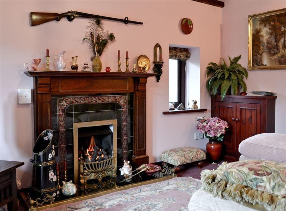 Living room at Hafoty Boeth Cottage in Bryn Saith Marchog, near Ruthin, Clwyd