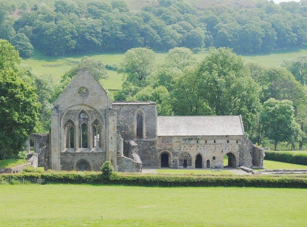 Llangollen Abbey (Valle Crucis Abbey) at Hafoty Boeth Cottage in Bryn Saith Marchog, near Ruthin, Clwyd