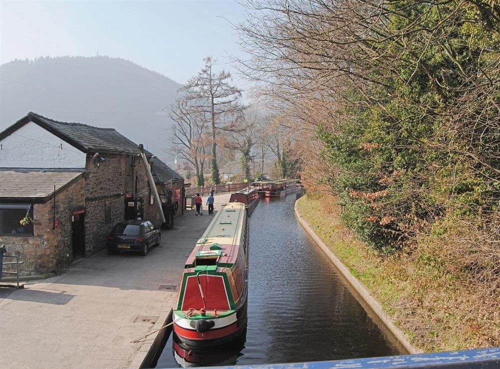 Llangollen canal at Hafoty Boeth Cottage in Bryn Saith Marchog, near Ruthin, Clwyd