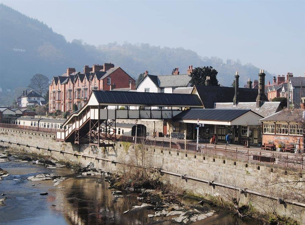Llangollen station and the River Dee at Hafoty Boeth Cottage in Bryn Saith Marchog, near Ruthin, Clwyd