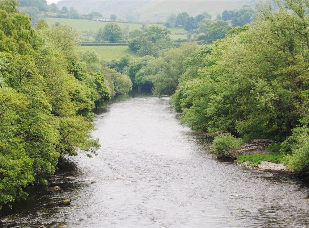 River Dee at Hafoty Boeth Cottage in Bryn Saith Marchog, near Ruthin, Clwyd