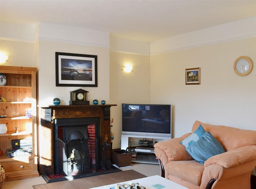 Living room at Half Moon Cottage in Great Yarmouth, Norfolk