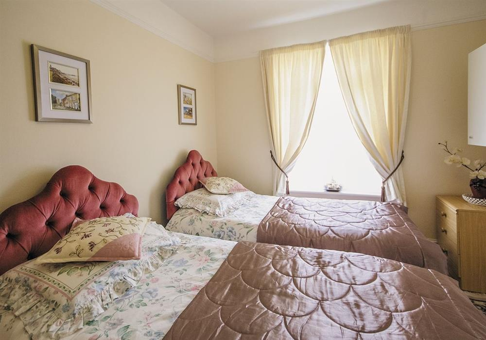 Twin bedroom at Half Moon Cottage in Great Yarmouth, Norfolk