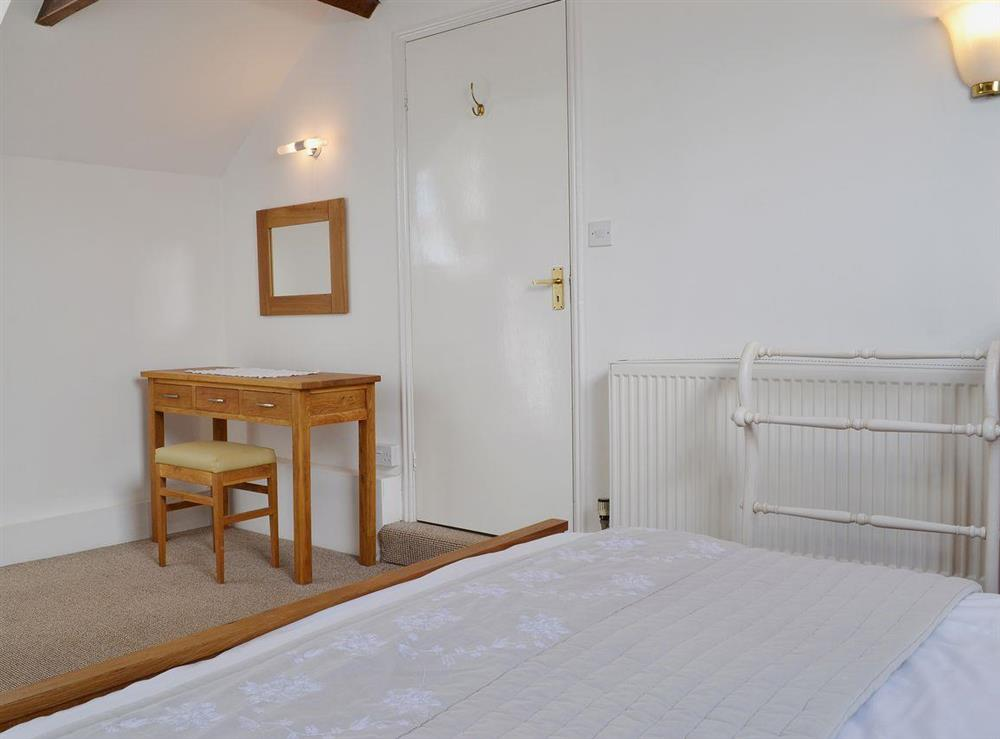 The double bedroom is light bright and airy at Half Penny Cottage in Docking, near Hunstanton, Norfolk