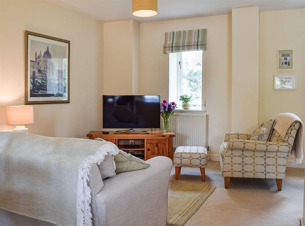 Living area at Hall Piece Cottage in Clifton Reynes, near Olney, Buckinghamshire