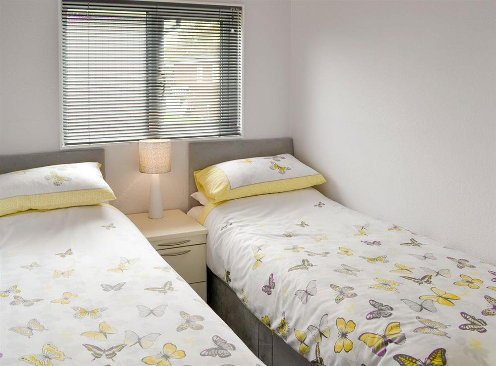 Good-sized twin bedroom at Happy Times in Stalham, Norfolk