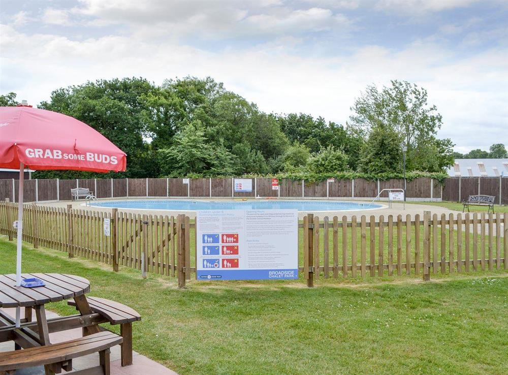 On-site swimming pool at Happy Times in Stalham, Norfolk