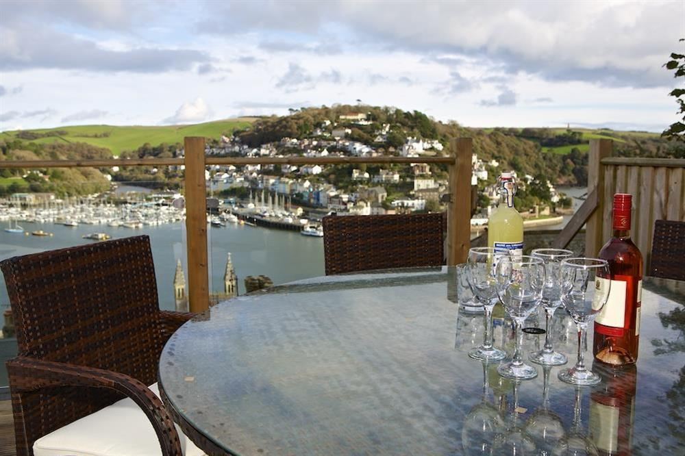 Enjoy drinks on the terrace overlooking the river at Harbour Heights in , Dartmouth