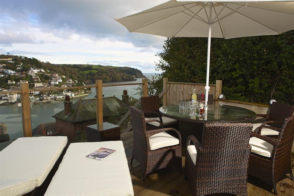 Lovely terrace with table, chairs and sun loungers at Harbour Heights in , Dartmouth
