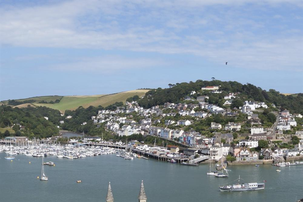 Panoramic views of the River Dart at Harbour Heights in , Dartmouth