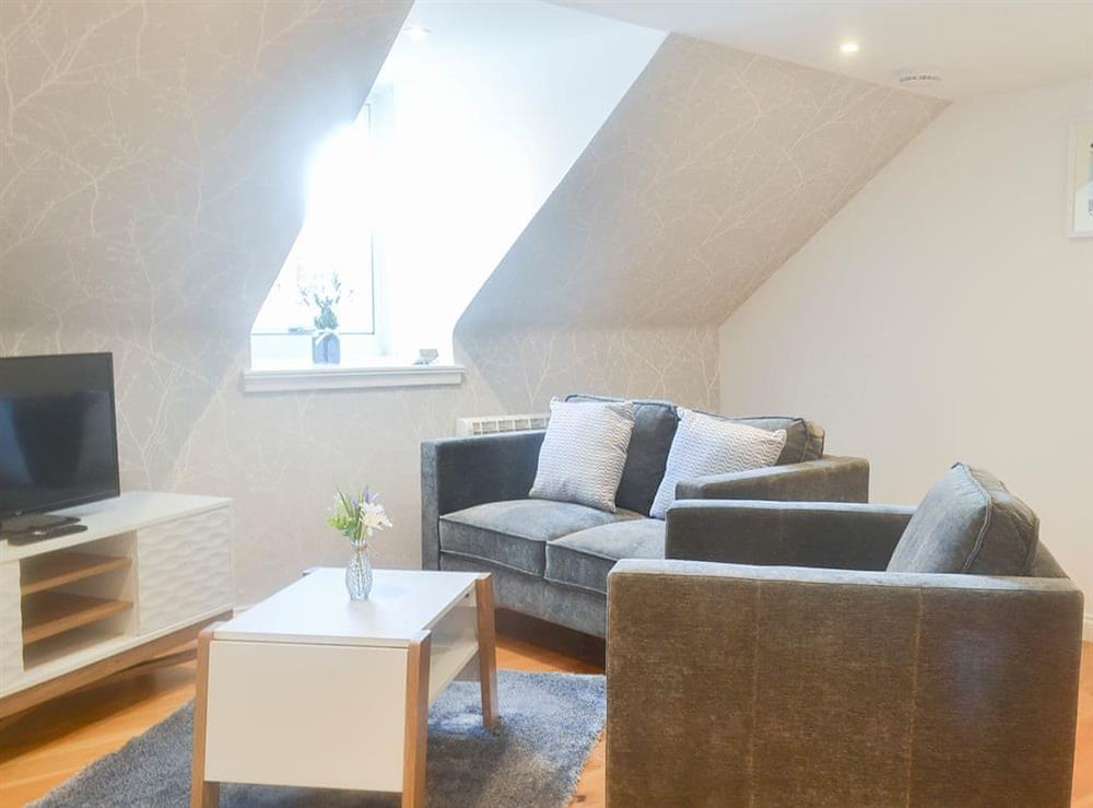 Light and bright living area at Harbour Hideaway in Oban, Argyll