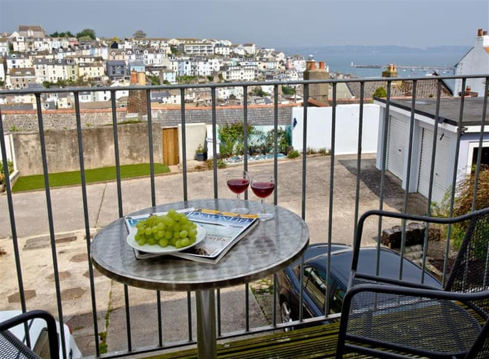 Balcony at Harbour View in , Brixham