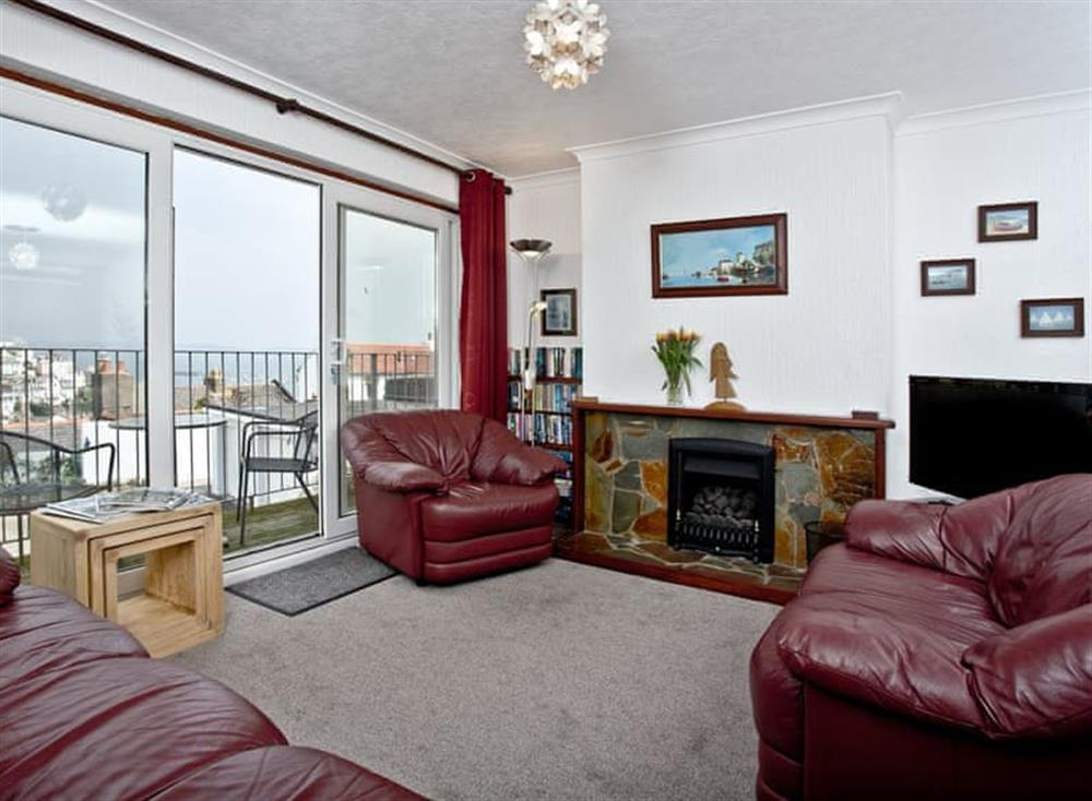 Living room at Harbour View in , Brixham