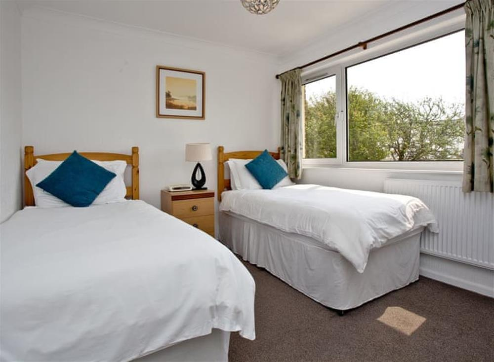 Twin bedroom at Harbour View in , Brixham
