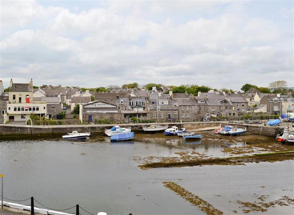 Great view over harbour from property