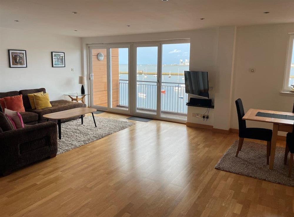 Living area at Harbour View in Edinburgh, Midlothian