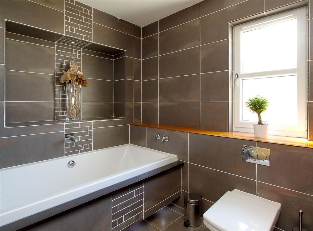 Bathroom at Harbour View in Maidens, Ayrshire., Great Britain