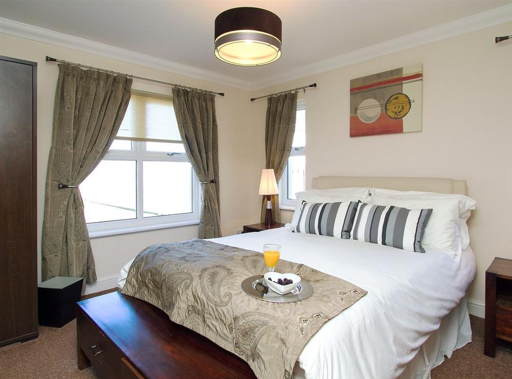 Double bedroom at Harbour View in Maidens, Ayrshire., Great Britain
