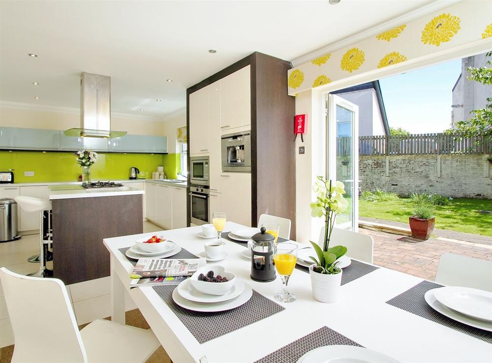 Kitchen/diner at Harbour View in Maidens, Ayrshire., Great Britain
