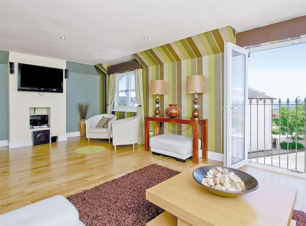 Living room at Harbour View in Maidens, Ayrshire., Great Britain
