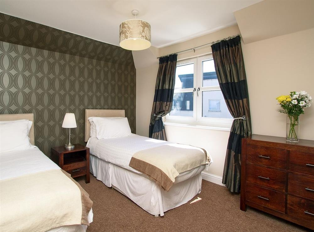 Twin bedroom at Harbour View in Maidens, Ayrshire., Great Britain