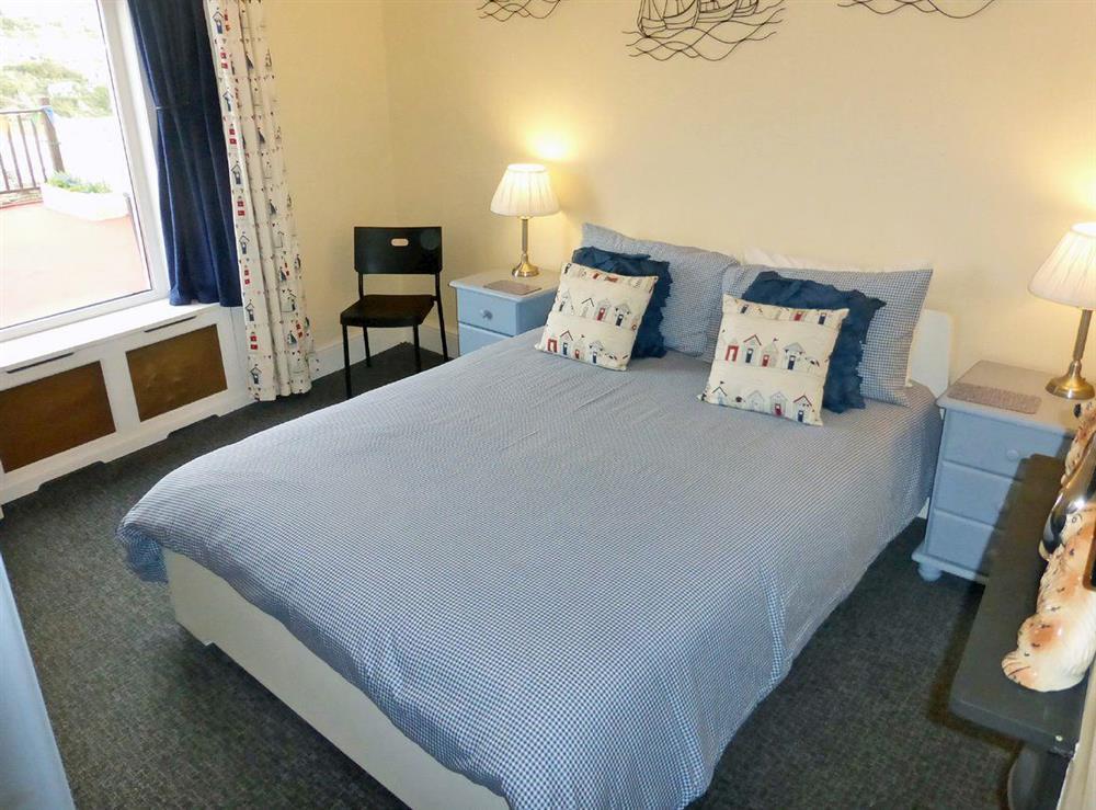 Comfortable double bedroom at Harbour Watch in Brixham, Devon