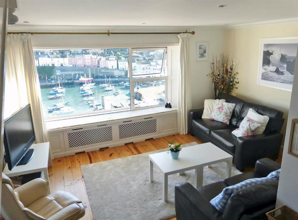 Magnificent views from the living room (photo 2) at Harbour Watch in Brixham, Devon
