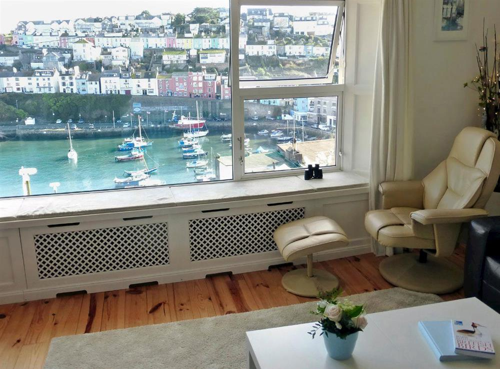 Magnificent views from the living room at Harbour Watch in Brixham, Devon