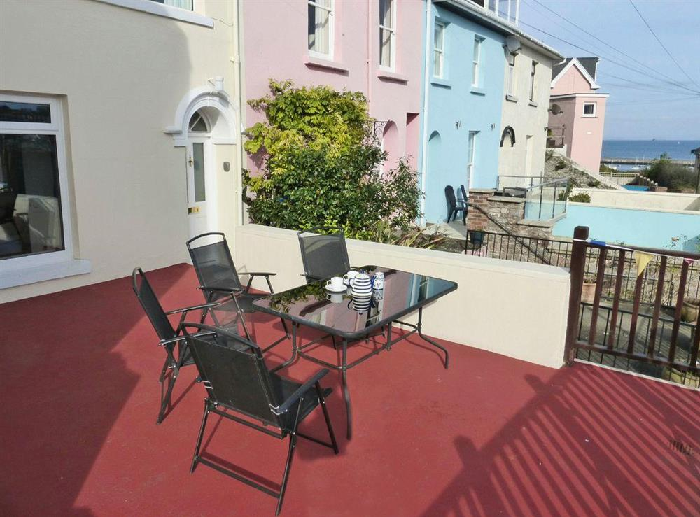 Traditional Victorian, terraced fisherman's cottage at Harbour Watch in Brixham, Devon